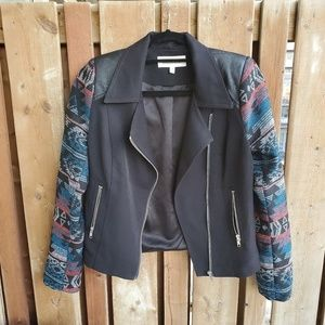 Daniel Rainn Black with Aztec Print Cropped Jacket